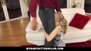 MyBabySittersClub Pale Skinned BabySitter Punished by Homeowner