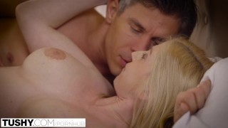 TUSHY First Anal For Beautiful Blonde Alex Grey Blowjob ass