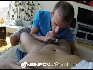 MenPOV - Oral Fun in the Car for Antonio Paul & Davey Anthony