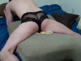 Bi Hole Blk Panties-ass cam