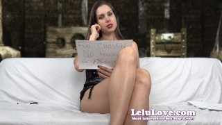 Lelu Love-Finishing You With FemDom Triple Threat  denial homemade flashing hd chastity cei masturbate amateur solo leather instruction fetish domination encouragement lelulove brunette natural tits lelu love