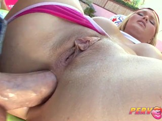 PervCity Blonde bombshell juicy blowjob and anal play