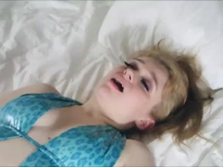 Hotel Sex is Hotter: Petite Curvy Blonde and Hairy Dude Play at Hotel