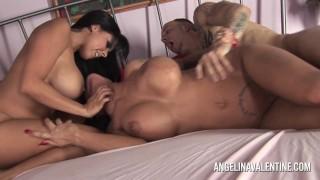 Angelina Valentine and Diamond in threesome