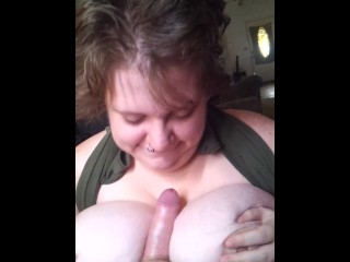 young busty bbw redhead fuck goddess titty fuck bj hard cum on fat tits