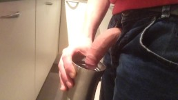 Pissing in a cup for when i get thirsty on my work
