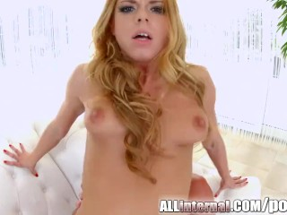 All Internal smiling brunette Chrissy Fox pussy creampie