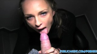 PublicAgent Loud sex with hot russian babe Blowjob wife