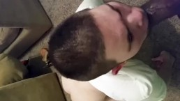 Cant Take The D So Made The White Boy Clean My Dick Off And Swallow My Cum