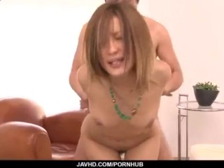 Aika screams while getting fucked in dirty gangbang
