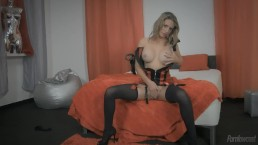 Rita Teixeira naughty and hungry slut served by two cocks