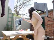 Anne Toying Her Twat Outdoors