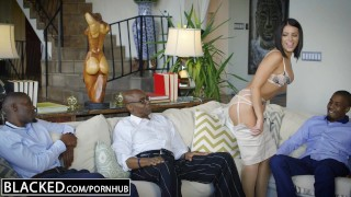Preview 6 of BLACKED Brunette Adriana Chechik Takes Trio of BBCs