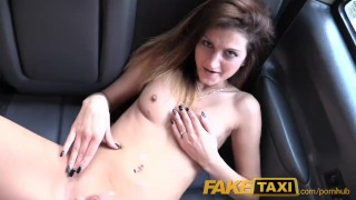 FakeTaxi Cum hungry babe with stiff nipples  outdoor sex doggy style dick riding british uk amateur blowjob cumshot pov faketaxi hardcore young reality teenager real sex