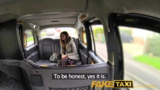 FakeTaxi Cum hungry babe with stiff nipples  doggy style dick riding british uk amateur blowjob cumshot pov faketaxi hardcore young reality teenager real sex outdoor sex