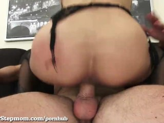 Super Hot Stepmom Cheats With Younger Guy!