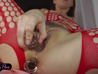 Xsex downlod penny fucks herself in a red body stocking vixxete redhead big boobs