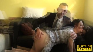 Spanked british sub riding maledoms cock Deepthroat cum