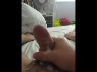 HE WAS MISSING HER, SO HE RELEASED FOR HER ON VIDEO! HOT CUMSHOT, HUGE LOAD