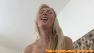 Loves in fakeagent cock stunning casting interview taking blonde ass big