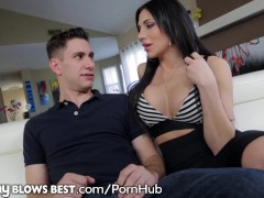 Brunette busty hottie rides cock Brunette