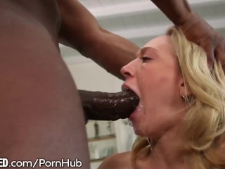 Throated Kagney Linn Karter Licks All The Cum
