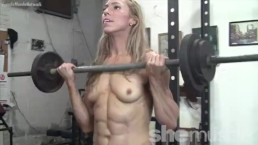 Lithe Denise Works It In The Shemuscle Gym