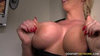 Alura Jenson takes anonymous black cock at Gloryhole  big tits big cock italian blowjob blonde gloryhole cumshot fetish busty hardcore interracial dogfartnetwork facial fake tits