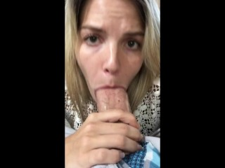 FILMING MYSELF SUCKING FOR A HUGE FACIAL!