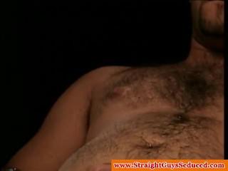 Straight bear wanking off to pleasure himself