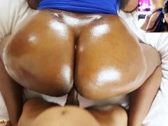 Ebony Glazed Doughnut Butt Getting WORKED - Nude Facial / Hardcore Sex