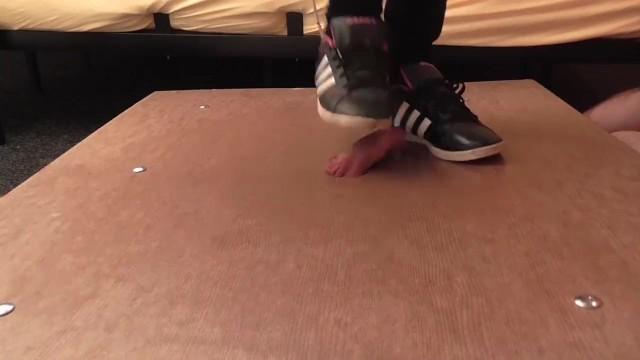 Teens sneaker sex Sneakers and balerina hard cock crush