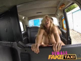 FemaleFakeTaxi - Firemans surprise, gushing, huge facial compilation
