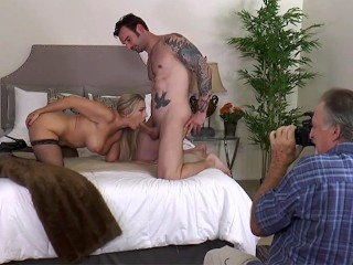 Complete behind the scenes of Sexy MILF Angel Allwood taking on Alex Legend