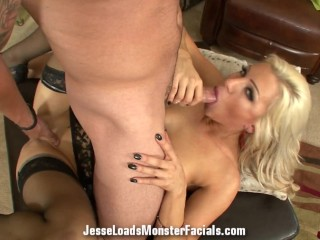 Beautiful Cameron Dee gets Nailed and takes a huge load on her pretty face
