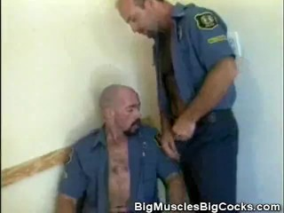 Muscled Cops Cock Sucking
