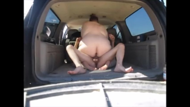 Salt lick camp ground Fucking stranger in the back of the car at camp grounds taking a creampie