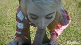 Baiser dans le parc conduit à une éjaculation interne accidentelle