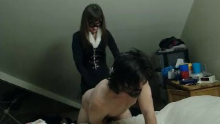 Nerdgasm! Black Cat strapon fucks pegging pegging cumshot roleplay femdom kink mom strapon cum costume dildo femdom strapon pegging amateur amateur wife pegging anal femdom pegging cat costume costume adult toys