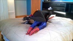 black spandex verses spiderman