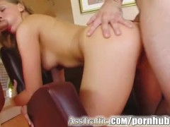 Ass Traffic Sweet Honey offers her ass for double penetration