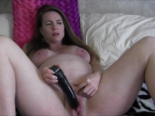 9 Months Pregnant Watching Porn and Masturbating