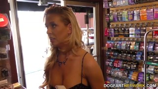 Cherie DeVille cheats on her husband with black gloryhole cock  big black cock big tits big cock creampie blowjob blonde gloryhole fetish busty hardcore interracial dogfartnetwork shaved big boobs tight