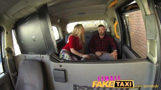 FemaleFakeTaxi Welsh lad gets a sweet surprise Stockings view
