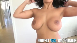 PropertySex -Busty real estate agent offers client blowjob and sex  big-cock huge-tits big-tits point-of-view booty doggy-style big-ass cumshot big-boobs propertysex reverse-cowgirl brunette real-estate-agent facial