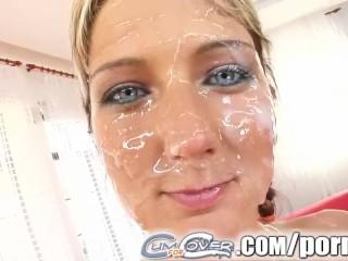 Cum For Cover Juicy love goddess gets six cumshots