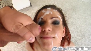 Cum For Cover Lia loves these four dicks and takes their blasts Cowgirl behind