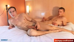 Long video: 2 nice innocent str8 guys serviced them big cock by a guy