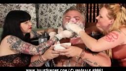 Mouthsoaping a Dirty Pig - Julie Simone and Maya Sinstress