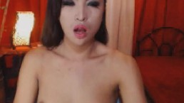 Seductive shemale temptress flaunts cock for cock